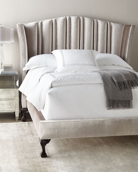 Eastwood Channel-Tufted Queen Bed