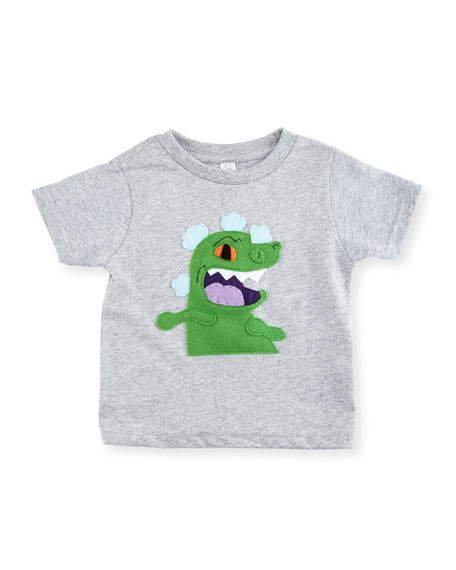 Mi Cielo Toddlers' Reptar Short-Sleeve Jersey Tee, Heather