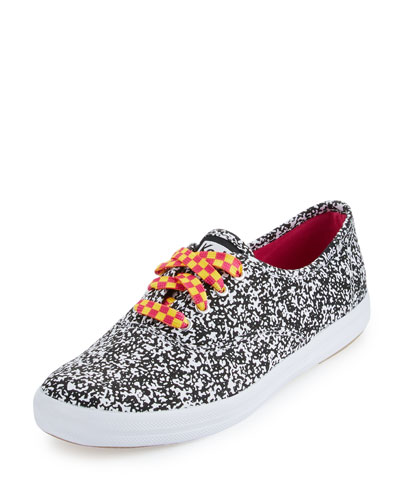 Keds Double Dare Printed Sneaker, Black/White