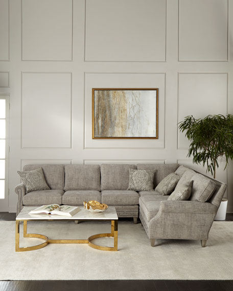 Image 1 of 3: Massoud Molly Right-Side Sectional Sofa