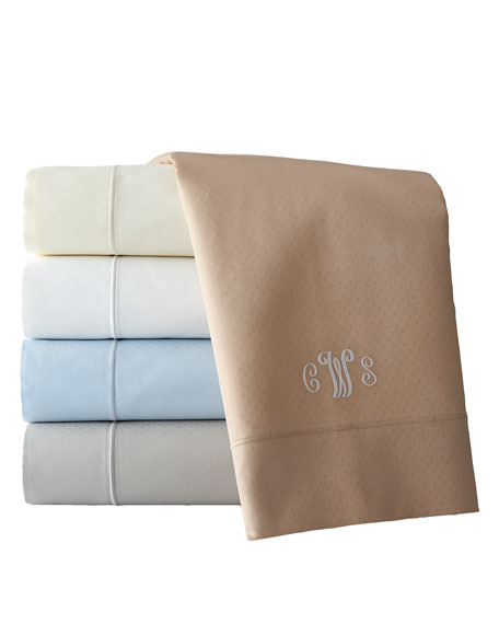 Two Standard Marcus Collection 400TC Dot Pillowcases