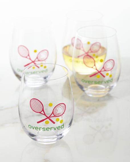 Overserved Wine Glasses, Set of 4