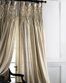 Pom Pom At Home Each 42 Quot W X 96 Quot L Smocked Linen Curtain
