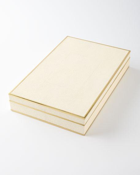 AERIN Faux-Shagreen Mahjong Set