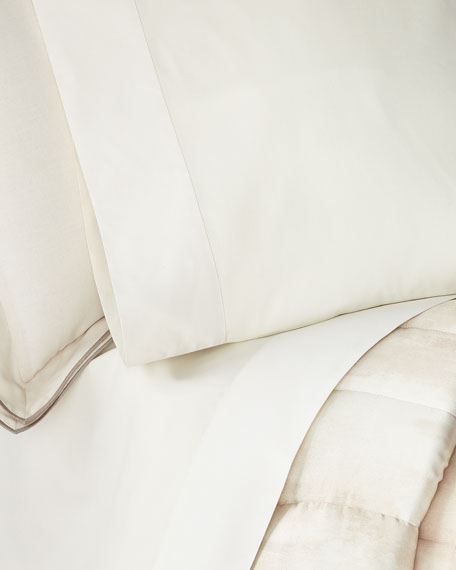Striated Band Standard Pillowcases, Set of 2