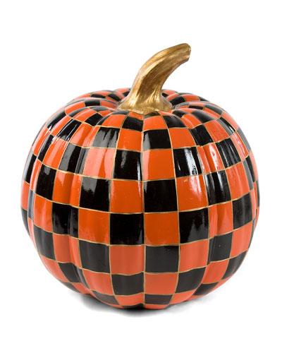 orange check pumpkin medium