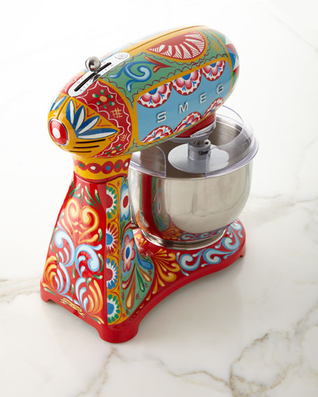 Image 3 of 3: Smeg Dolce Gabbana x SMEG Sicily Is My Love Stand Mixer