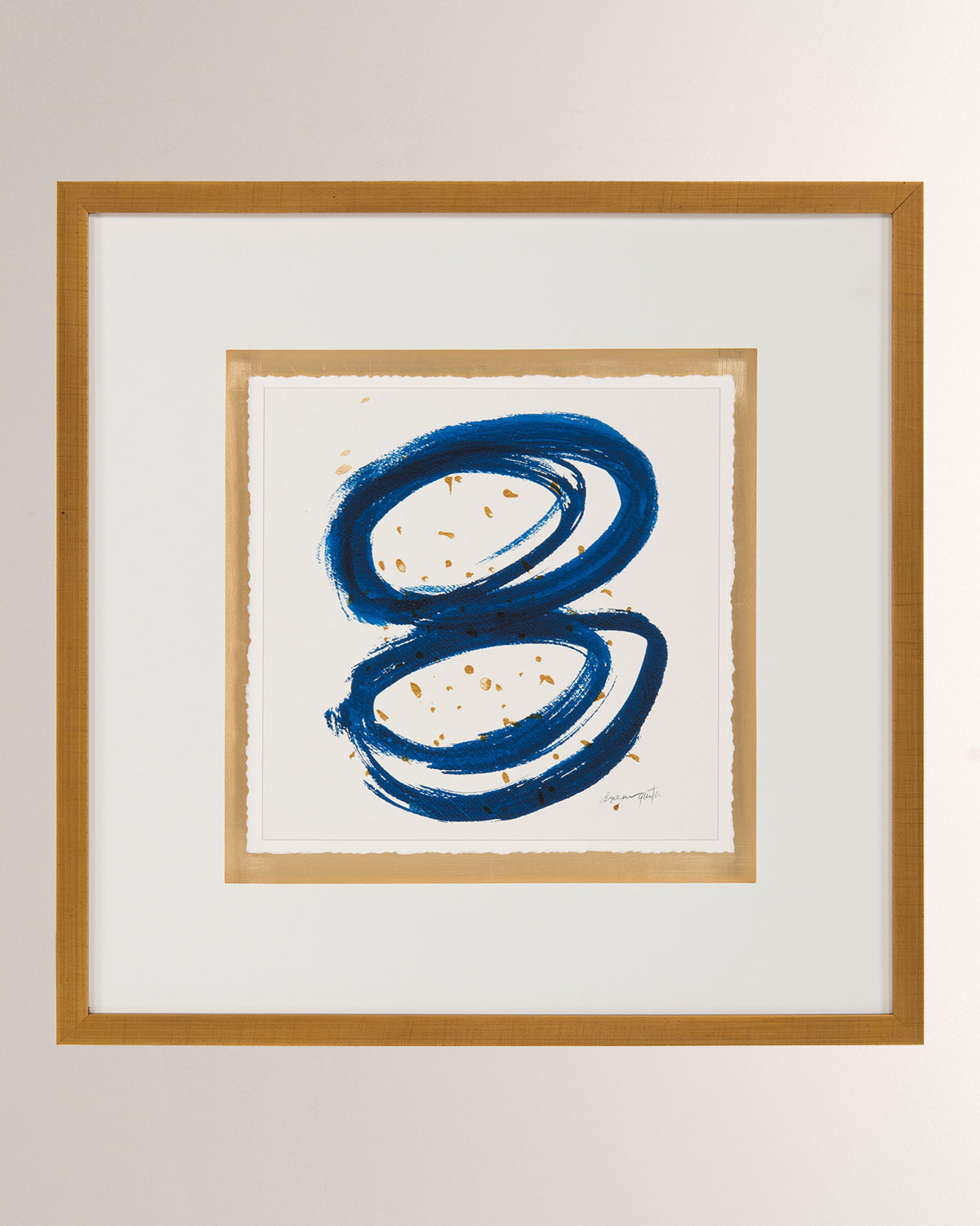 "John-Richard Collection ""Blue Gold I"" Wall Art by Dyann Gunter"