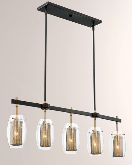 Image 3 of 3: Dunbar Five-Light Linear Chandelier