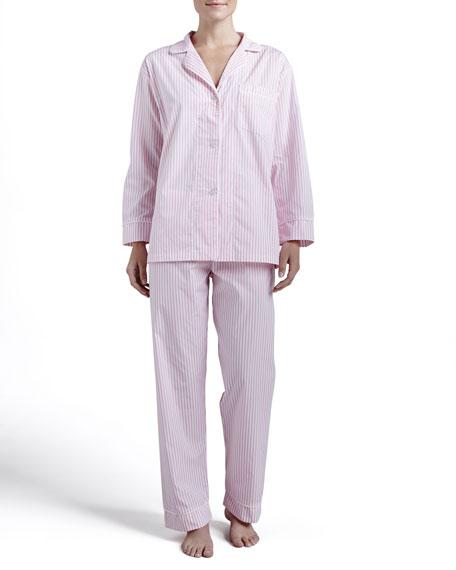 Pinstripe Classic Pajamas, Pink