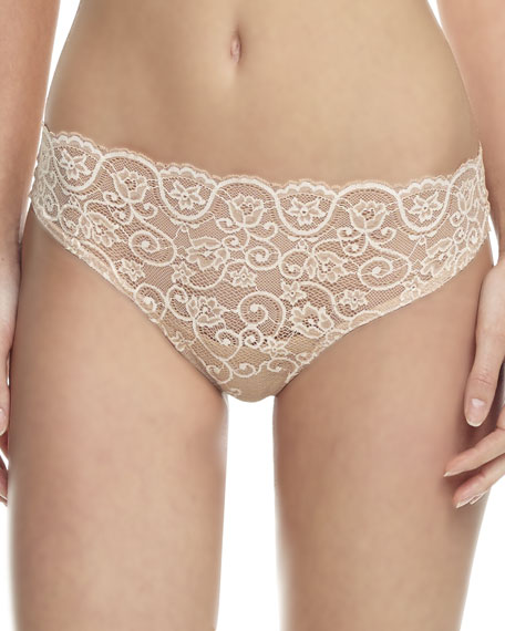 Double Take Lace/Microfiber Thong