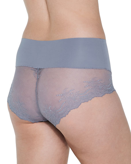 Image 2 of 3: Spanx Undie-Tectable® High-Waist Lace Boyshorts