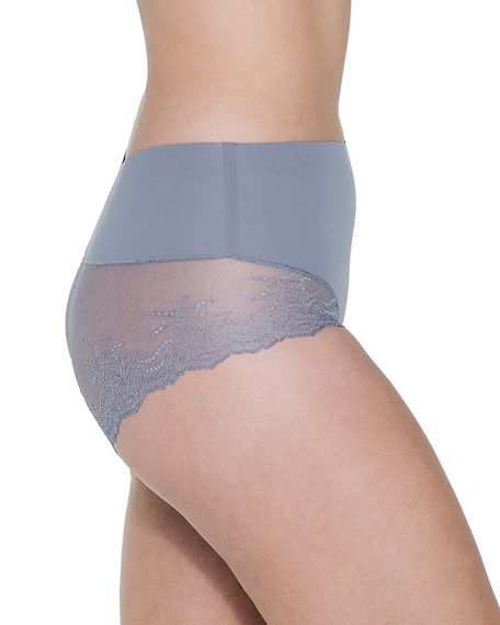 Image 3 of 3: Spanx Undie-Tectable® High-Waist Lace Boyshorts