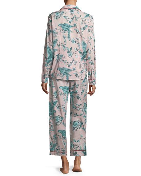 Desmond & Dempsey Parrots Long Pajama Set