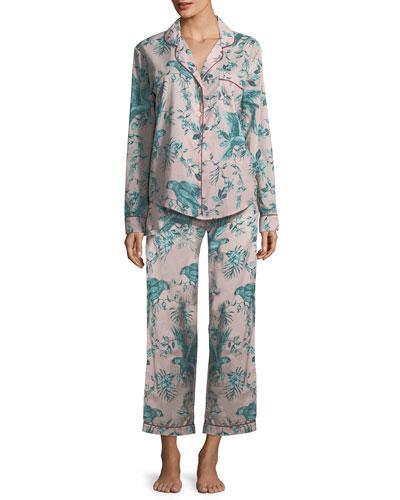 Parrots Long Pajama Set