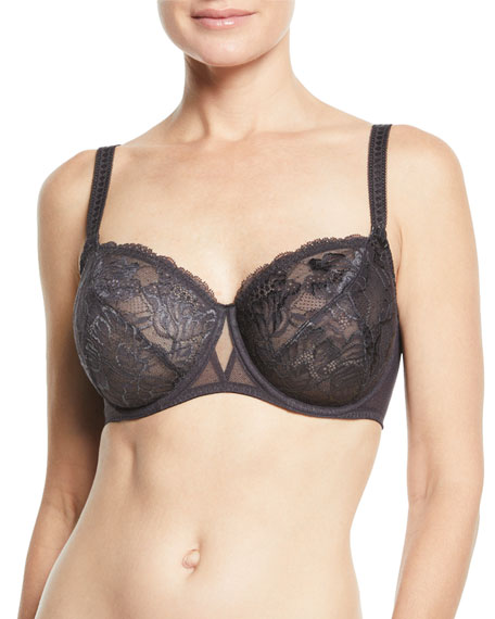 Image 1 of 2: Promesse Full-Figure Full-Cup Lace Bra