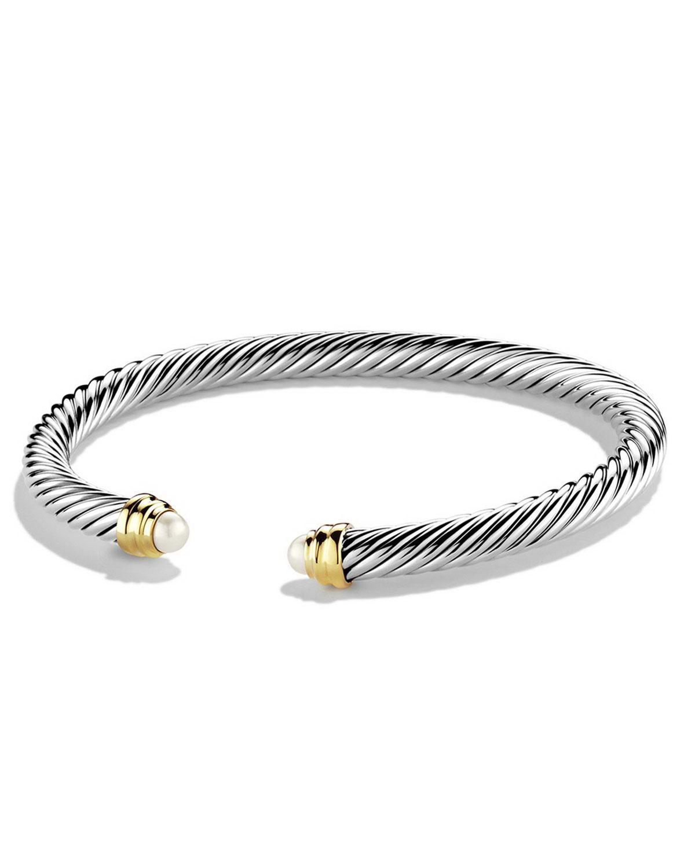 110be7140d07 David Yurman 5mm Pearl Cable Clics Bracelet Small Neiman Marcus