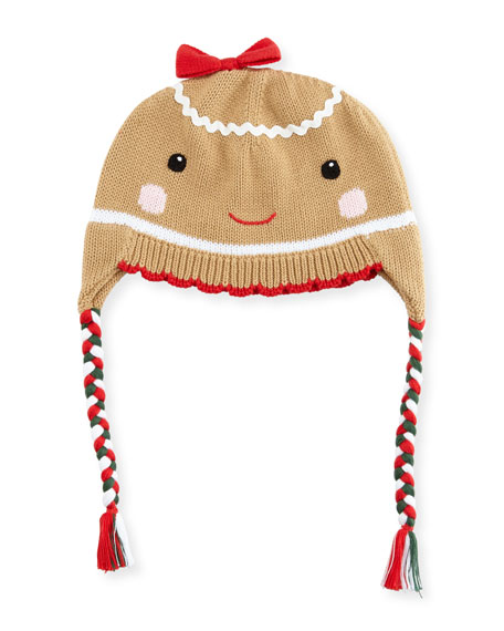 ZUBELS GIRLS' GINGERMAN KNIT HAT