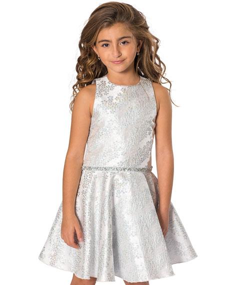 Zoe Kelsey Iridescent Brocade Embellished Swing Dress, Size 7-16