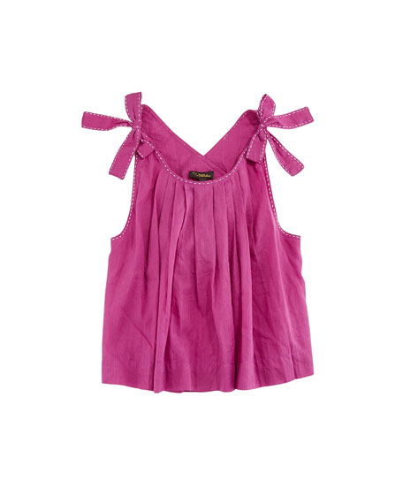 Velveteen Imani Pinafore Pleated Top, Size 8-12