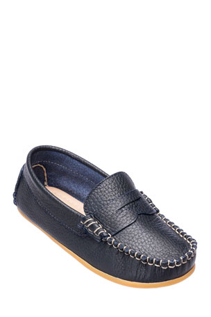 Elephantito Alex Leather Driver Loafer, Toddler
