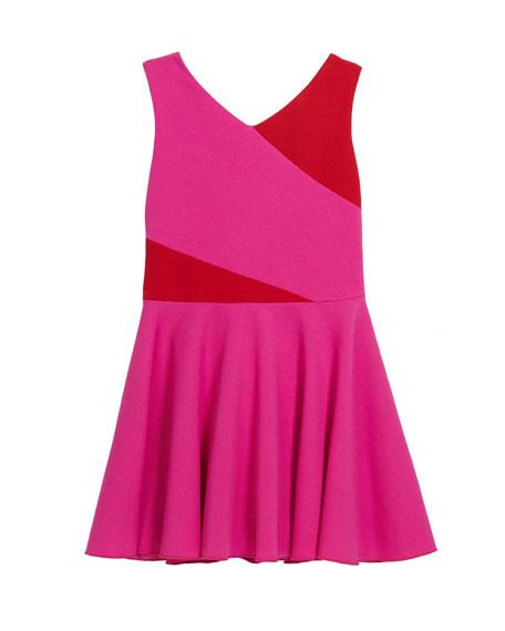 Zoe Girl's Kiera Knit Colorblock Swing Dress, Size 7-16