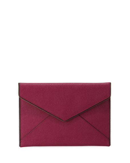 Leo Star-Print Envelope Clutch Bag