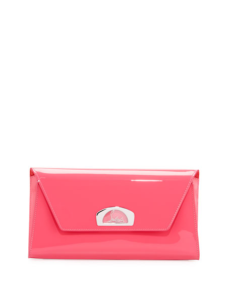 Image 1 of 3: Vero Dodat Flap Patent Clutch Bag