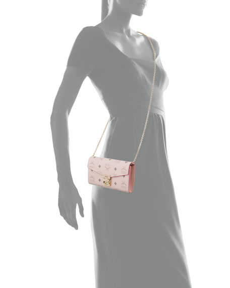 Mcm Patricia Visetos Two Fold Wallet On Chain