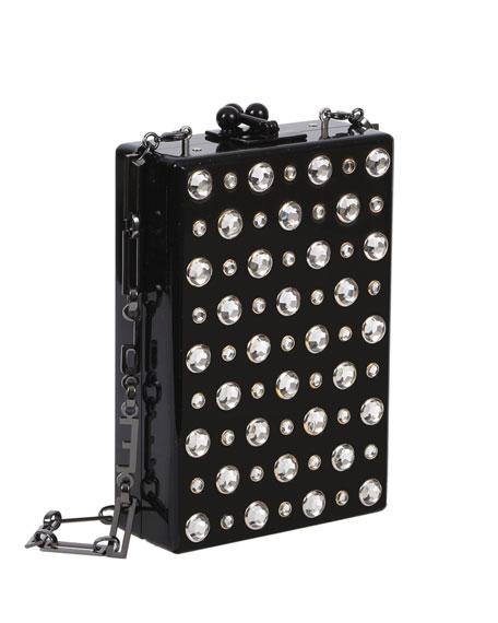 Carol Metallic Stud Clutch Bag