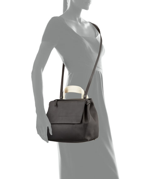 Medium Leather Satchel Bag