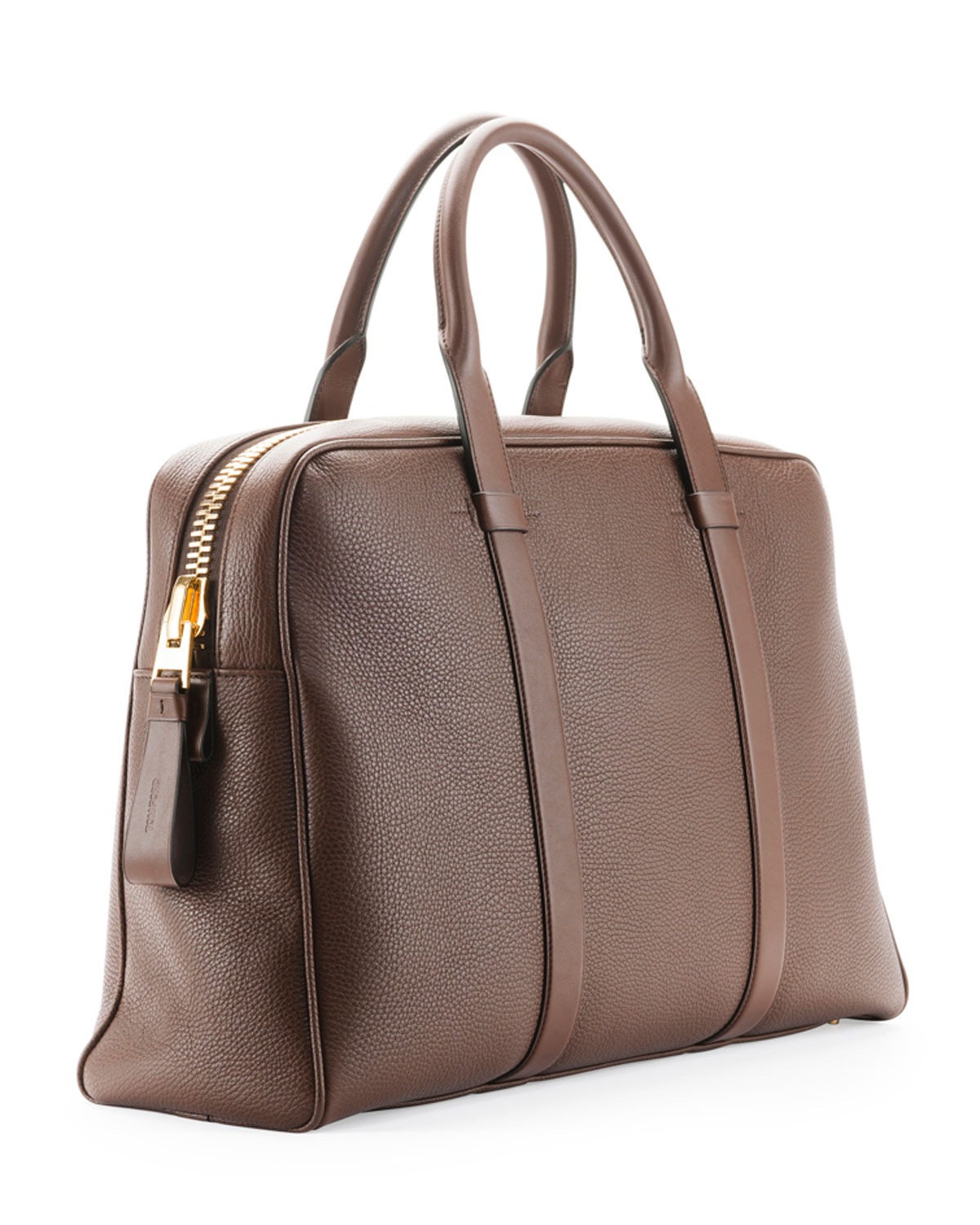 64b61481997fd3 ... huge discount a0711 68ce8 TOM FORD Buckley Mens Zip Small Duffel Bag,  Light Brown Nei ...