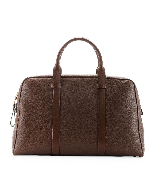 d9897705b2a25e TOM FORD Buckley Men s Zip Small Duffel Bag, Light Brown   Neiman Marcus