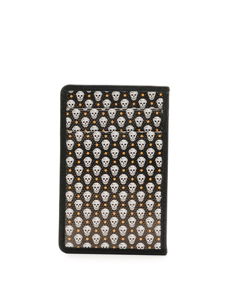 Coated Skull Card Case, Green/White