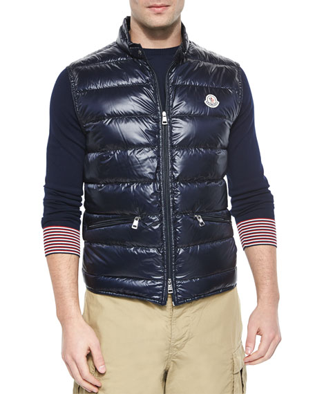 Moncler Gui Quilted Puffer Vest, Navy