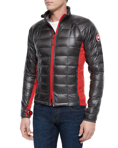 Hybridge Lite Puffer Jacket, Graphite/Red
