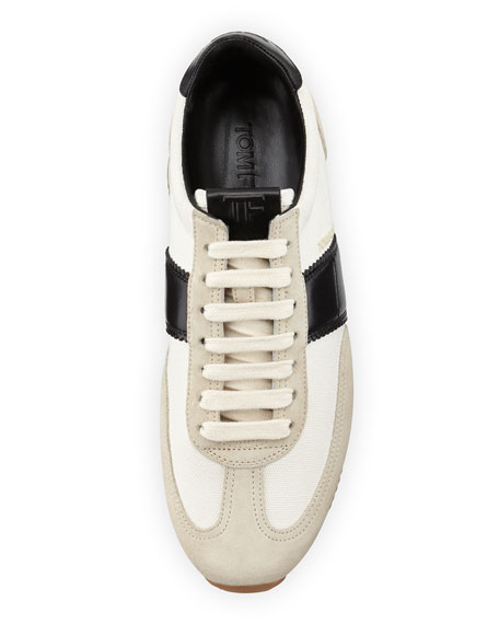 Men's Orford Colorblock Trainer Sneakers, Black