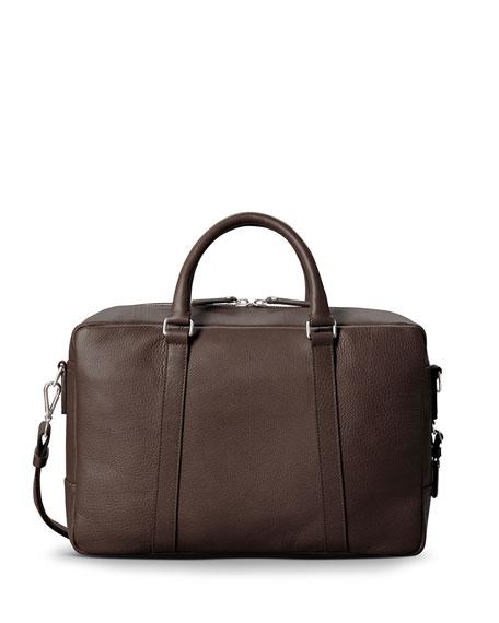 Men's Slim Leather Briefcase
