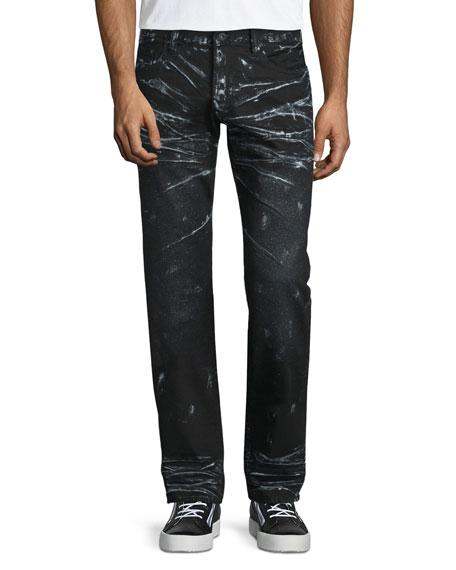 PRPS Barracuda Contrast-Whiskered Denim Jeans, Black