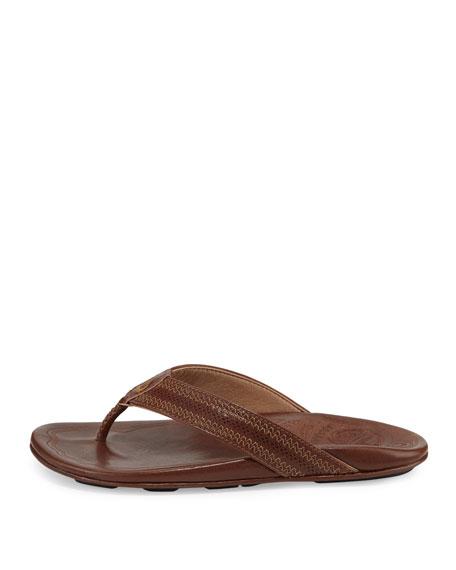 Olukai Po'okela Leather Thong Sandals