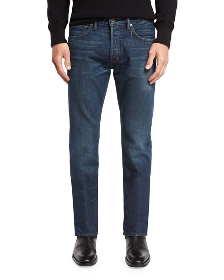 TOM FORD Regular-Fit Selvedge Harrison Wash Denim Jeans,