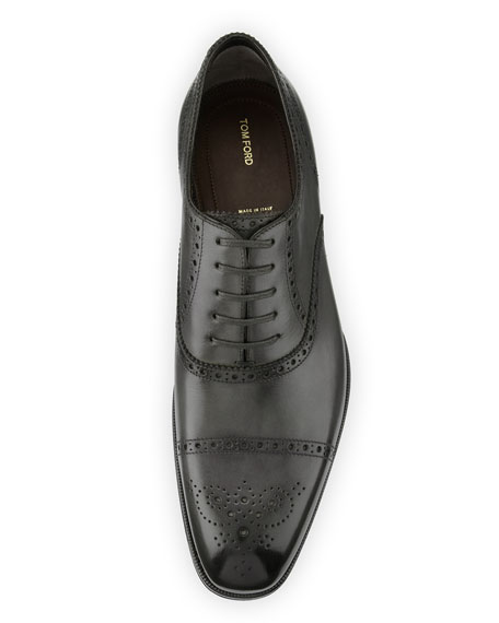 Image 3 of 6: Edgar Medallion Cap-Toe Shoe