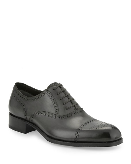 Image 1 of 6: Edgar Medallion Cap-Toe Shoe