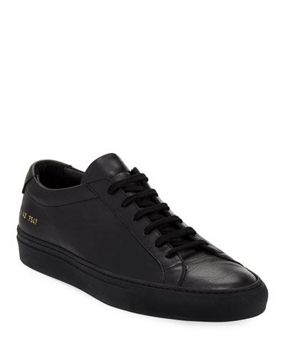 Men's Achilles Low-Top Sneakers  Black