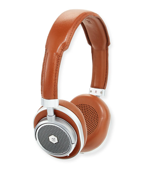 Master & Dynamic MW50 Wireless Over-Ear Head Phones, Silver/Brown