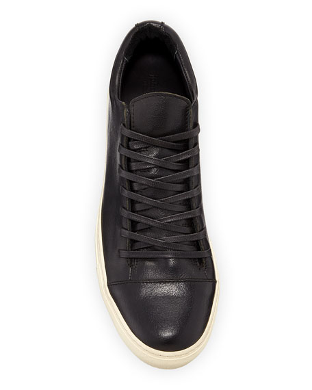 Men's 315 Reed Leather Low-Top Sneakers, Black