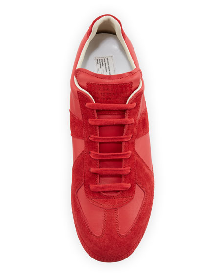 Maison Margiela Men's Replica Leather & Suede Low-Top Sneakers