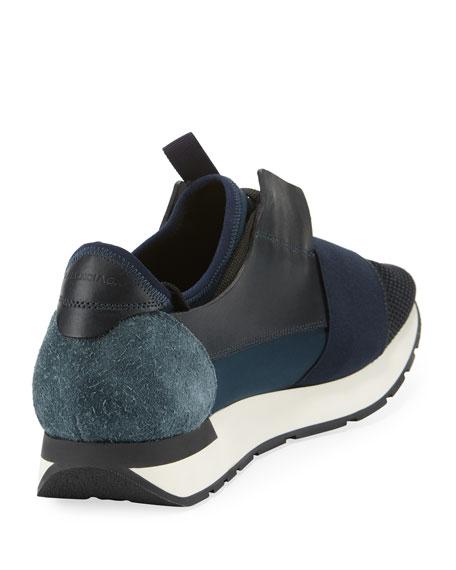 Men's Race Runner Mesh & Leather Sneaker