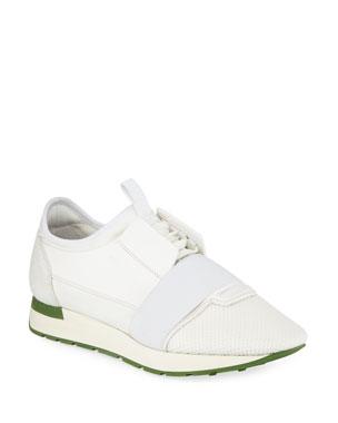 e4fd83dd79 Balenciaga Men's Race Runner Mesh & Leather Sneakers, ...