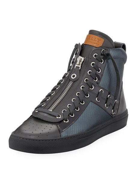 Bally Hekem Patchwork High-Top Sneaker